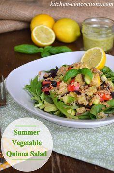 Kitchen Concoctions: Summer Vegetable Quinoa Salad with Lemon Basil Vinaigrette. Table the Salt and Use Lemon for Flavor.