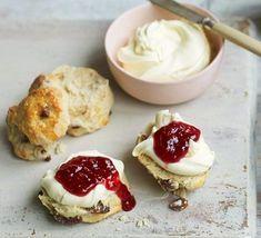 Fruit scones Scones Recipe Bbc, Classic Scones Recipe, Bbc Good Food Scones, Clotted Cream, Chocolate Buttercream Icing, How To Make Scones, Fruit Scones, Bbc Good Food Recipes, Yummy Recipes