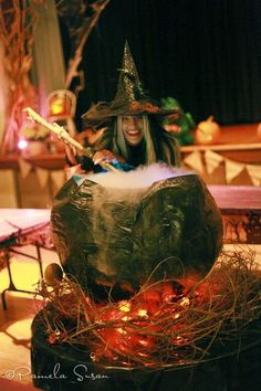 Great Halloween Party Ideas - including DIY witches' cauldron