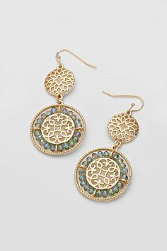 Ramire Earrings in Mint Vitrail on Emma Stine Limited