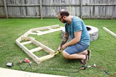 """Joshua wrote, """"The build took about two days, which included the trip to Home Depot for supplies, which came to about $125. I've seen similar benches in the $2K range, so it was a pretty good deal."""""""