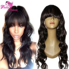 http://www.ebay.com/itm/150-Brazilian-Full-Lace-Human-Hair-Wig-With-Bangs-Glueless-Lace-Lace-Front-Wig-/262731460994