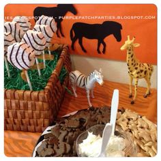 Disney's Lion King Baby Shower Party Animal crackers with frosting