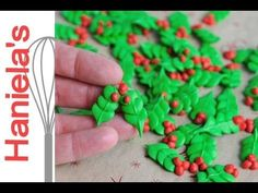 Royal Icing Holly Leaves, make them now use later https://www.youtube.com/watch?v=QdhEktQ9TUs