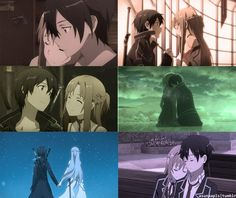 Asuna and Kirito <3 <3 <3 Love this couple so much!! :D