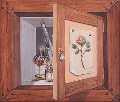 Dipinto in acrilico su multistrato marino, 40 x 45 cm
