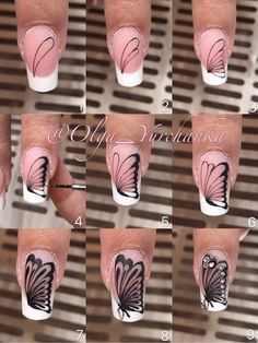 Our goal is to keep old friends, ex-classmates, neighbors and colleagues in touch. Butterfly Nail Designs, Butterfly Nail Art, Diy Nail Designs, Nail Art Diy, Diy Nails, Cute Nails, Yellow Nail Art, Nail Art Techniques, Nail Art Videos