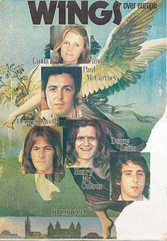 wings over europe 72 Paul Mccartney Beatles, Paul Mccartney And Wings, Vintage Concert Posters, Music Posters, Ran Paul, Denny Laine, Blue Soul, Wings Over America, Wings Band
