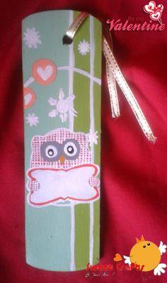 Separador de lectura Búho con letrero Para colocar el nombre de tu amig@ o un mensaje para la persona que aprecias. Este y otros modelos en Sweet Crafts. #pinturacountry #owl #valentine #handmade #Nicaragua Técnica: Acrílico sobre madera
