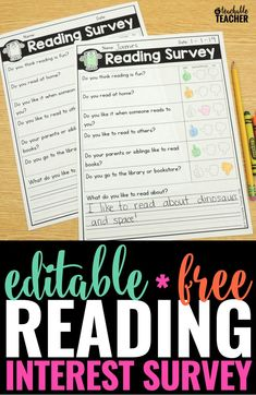 When it comes to learning how to read, a students' attitude towards reading makes a BIG difference. Knowing the answers to these questions can help you learn about your students. So why not ask with this FREE reading survey printable. Student Interest Survey, Reading Interest Survey, Reading Survey, Student Survey, Student Reading, Kindergarten Reading, Teaching Reading, Free Reading, Teaching Tips