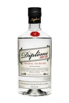 Diplome premium French London dry gin vol. l - Francie Premium Gin, Gin Bottles, Vodka Bottle, Gin Seco, Tequila, Whisky, Martini, Rum, Favors