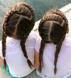 40 Pretty Fun And Funky Braids Hairstyles For Kids - Part 25 Little Girl Hairdos, Kids Braided Hairstyles, Cute Girls Hairstyles, Princess Hairstyles, Pretty Hairstyles, Teenage Hairstyles, Short Hairstyles, Hairstyle Braid, Wedding Hairstyles