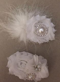 Communion headpieces - love the sparkle and bling.... Perfect on hard headbands or hair clips ... MSG Nini Creations on Facebook for details