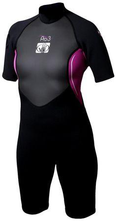 Women s Body Glove Pro3 Springsuit Wetsuit - Black Pink a231bc5d0