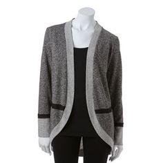 AB Studio French Terry Cardigan