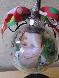 Photo Christmas Ornament Balls (With an old family photo inside?)