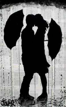 View LOUI JOVER's Artwork on Saatchi Art. Find art for sale at great prices from artists including Paintings, Photography, Sculpture, and Prints by Top Emerging Artists like LOUI JOVER. Silhouette Couple, Arte Black, Umbrella Art, Yellow Umbrella, Art Et Illustration, Ink Drawings, Banksy, Love Art, Amazing Art
