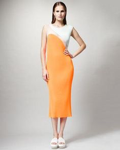 STELLA MCCARTNEY  Runway Dress in Bright Orange
