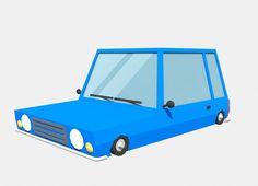 blue car low poly by low poly blue car 1010 polygons render Mental ray format: max fbx, obj, Fantasy Model, 3d Fantasy, 3d Design, Flyer Design, Low Poly Car, Rendering Art, Car 3d Model, 3d Models, Corporate Flyer
