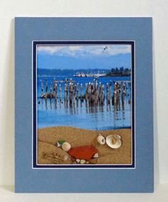 Beach scene photo art mixed media wall art wall by RecycleRoom