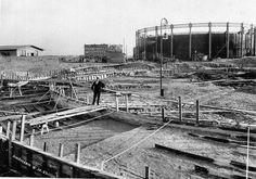 Bouw Gashouders Westergasfabriek Amsterdam 1902