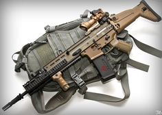SCAR-L. looks like it has foregrip extension.