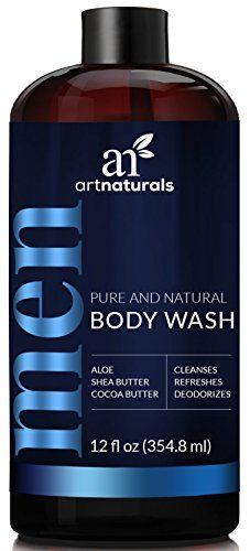 ArtNaturals Men's Natural Body Wash – (16 Fl Oz / 473ml) – Shower Gel that Cleanses, Refreshes and Deodorizes – with Aloe Vera, Shea Butter, Essential Oils and Cocoa Butter #ArtNaturals #Men's #Natural #Body #Wash #Shower #that #Cleanses, #Refreshes #Deodorizes #with #Aloe #Vera, #Shea #Butter, #Essential #Oils #Cocoa #Butter