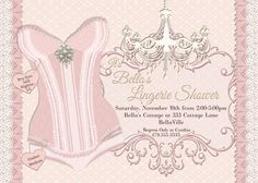 Lingerie Shower Invitation Bachelorette Party by BellaLuElla, $10.00