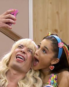 """Ariana Grande Is So """"Ew"""" With Jimmy Fallon on The Tonight Show: Videos - Us Weekly Ariana Grande Fans, Ariana Grande Pictures, Jimmy Fallon Ew, Show Video, Tonight Show, Dangerous Woman, Celine Dion, Meme Faces, Celebs"""