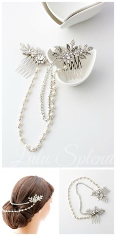 Bridal Headpiece Hair Chain Wedding Hair Accessory por LuluSplendor
