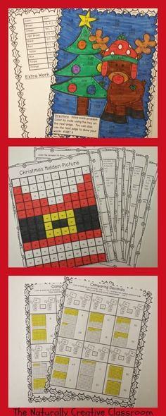 This Christmas Math Pack is so fun that students won't even realize that they are learning! This Christmas Math Pack is 37 pages jammed with 4th grade CCSS Math standards and includes fractions, decimals, line plots, addition and subtraction of multi-digit numbers, rounding and so much more! This is the perfect thing for the month of Christmas or those few days before break when you are ready to pull your hair out! Engaging and educational!