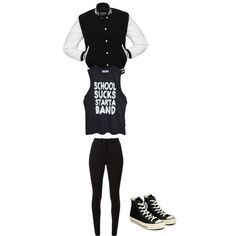 Black and white school outfit