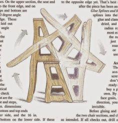Ah! E se falando em madeira...: cadeira escada