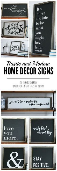 Rustic Sign Wall Art - Beautiful rustic spring signs from The Summery Umbrella Etsy store - featured on Kenarry: Ideas For The Home!