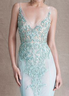 Mint Wedding Dresses from Paolo Sebastian SS Couture Paolo Sebastian, Beautiful Gowns, Beautiful Outfits, Look 2015, Moda Outfits, Marchesa, Couture Dresses, Elie Saab, Dream Dress