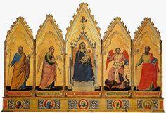 Giotto, Polittico Madonna col Bambino e i santi, Pinacoteca Bologna via Wikipedia | Discovering Bologna's National Gallery (Pinacoteca Nazionale)