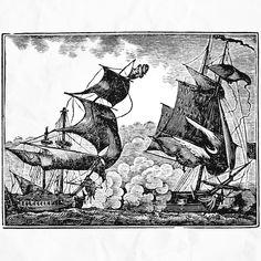 Sea battle. Drawing.  #artwork #vintagestyle #ship #battle #vintage #illustration #drawing #sketch #supportartists #sea #ocean #lines