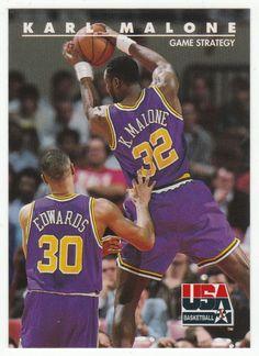 c855d624f Karl Malone   48 - 1992 Skybox USA Team Basketball Karl Malone