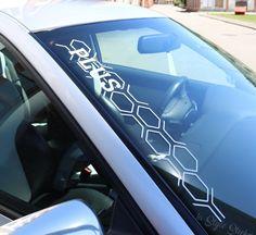 kompatibel mit VW R-Line Aufkleber Wabenmuster Frontscheibenaufkleber Sticker Tuning Autoaufkleber