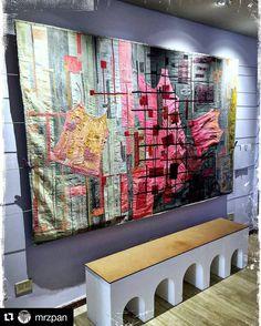 """#Repost @mrzpan C/O @biennaledisegnoRN #mybiennaleRN Susanna Beverini """"Libera"""" -2016 tessuto tinto con acrilico  No Limits To Fly Gallery #rimini #myrimini #vivorimini #volgorimini #ig_rimini #igersrimini #art #arte @comunerimini"""