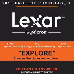 "@Phototag_it & @LexarMemory Photo Contest   THEME: ""EXPLORE"" Show us the places you explore   TAGS: #phototag_Lexar #LexarMemory  RULES: new/old photos limitless  RULES: invites all your friends to participate   PRIZES: 1st: 64 GB Lexar Professional SD 2000X 2nd: 32 GB Lexar Professional SD 2000X 3rd: 32 GB Lexar Professional SD 2000X   END: April 21  WINNERS: April 22 Winners based on creativity and theme   FOLLOW: @phototag_it & @LexarMemory . #nikon_photography_ #natgeotravel…"