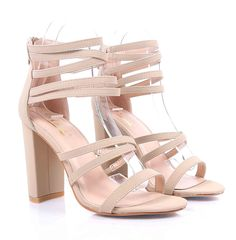 78f03b5d63cc Sweet eCom Women High Heels Sandals Extendable Strappy Open Toe Chunky  Heels Zipper Closure Faux Nubuck -- Click on the image for additional  details.