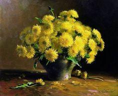 Мастер-класс по масляной живописи Цветы Сергея Тутунова