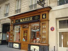 Maille mustard store, Paris, France...I'm a weirdo but I am soooo excited to one day buy some dijionaisse here!