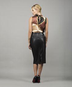 Φούστα Στενή Γραμμή Δέρμα   Vaya Fashion Boutique Women's Skirts, Leather Skirt, Fashion, Moda, Leather Skirts, Fashion Styles, Fashion Illustrations