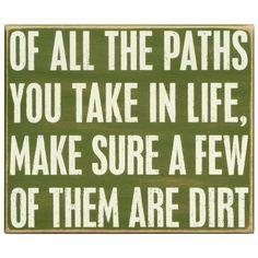 Dirt Path Sign