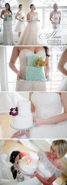 Haute Wedding Cakes and Beautiful Bridal Gowns