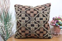 floor cushion 24x24 kilim pillow aztec kilim pillow sofa kilim #etsy #pillow #handmade