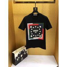 Givenchy black print men 2017 tee DP05