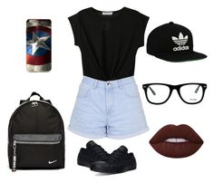 """Sin título #50"" by alex-cm31 ❤ liked on Polyvore featuring Converse, NIKE, adidas Originals, Topshop, Muse and Lime Crime"